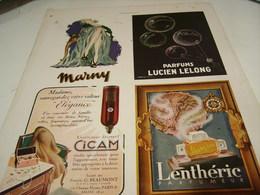 ANCIENNE PUBLICITE MARNY - LELONG - CICAM - LENTHERIC  1943 - Pubblicitari