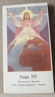 MONDOSORPRESA, (ST367) SANTINO, SANTINI, PASQUA 1951 - Images Religieuses
