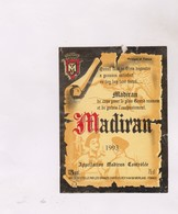 ETIQUETTE DE VIN MADIRAN 1993! - Madiran
