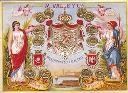 M. VALLE Y Ca--HABANA--la Flor De Cuba--proveedores De La Real Casa--voir 2 Scans - Other Collections
