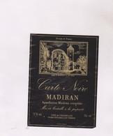 ETIQUETTE DE VIN MADIRAN CARTE NOIRE - Madiran