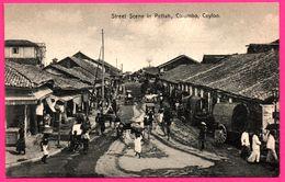Colombo - Ceylon - Street Scene In Pettah - Bullock - Charrette - Pousse Pousse - Animée - PLATE Ltd N° 79 - Sri Lanka (Ceylon)