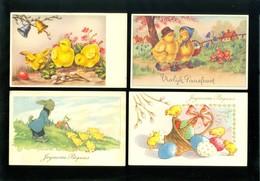 Beau Lot De 60 Cartes Postales Fantaisie  Pâques     Mooi Lot 60 Postkaarten Fantasie  Pasen - 60 Scans - Cartes Postales