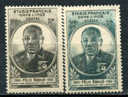 INDE -  Yv. N° 234, 235  ** MNH    Eboué  Cote  2,3   Euro  TBE 2 Scans - India (1892-1954)
