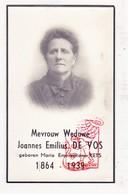 DP Bedanking Foto - Maria E. Kets ° 1864 † 1939 X Joannes E. De Vos DeVos / Peeters Ceulemans Pauwels Bal De Wilde - Images Religieuses