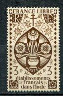 INDE -  Yv.   N°  229   *   3R  Brun Série Londres Cote  1,8   Euro  BE 2 Scans - Inde (1892-1954)