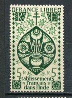 INDE -  Yv.   N°  230   *   5R  Vert Série Londres Cote  2,5   Euro  BE 2 Scans - Inde (1892-1954)
