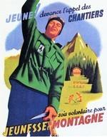 """Militaria WW2  -  Photo D'affiche Vichyste - """"jeunesse Et Montagne"""" - 1939-45"""