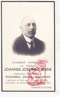 DP Foto - Joannes J. Jenné ° Hal (Halle Zoersel ?) 1876 † Antwerpen 1941 X Philomena J. Van Gilwe (° Brugge ) - Images Religieuses