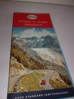 Carte Routière Suisse Offerte Par Esso - Voitures