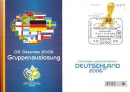 2006 Deutschland Brief  Auslosung Der Endrunde - 2006 – Alemania