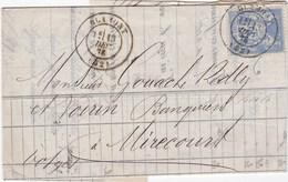 F 128 - Meurthe Et Moselle - De Blâmont à Mirecourt - Sage N° 78 - Cachet Type 17 - 1849-1876: Klassik