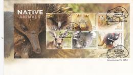 Australia 2015 Native Animals Souvenir Sheet FDC, - FDC
