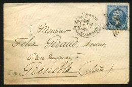 PARIS : Pli Avec 20c EMPIRE Dentelé Oblt Etoile 23 + CàDate PARIS R. Fg-St-ANTOINE > St BONNET - 1849-1876: Période Classique