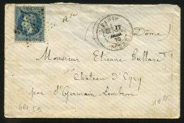 PARIS : Pli Avec 20c EMPIRE Lauré Oblt Etoile 6 P1 + CàDate PARIS SENAT > CHATEAU D'EVRY - 1849-1876: Période Classique