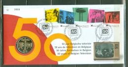 Belgique 2003  Numisletter  3213/3217   Les 50 Ans De La Television En Belgique - Numisletters