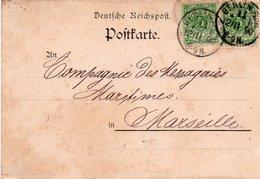 88Fo  Carte Postale Entier 1890 Berlin Arnheim & Co. Anhalter Bahnhof à Messageries Maritimes Marseille - Vari