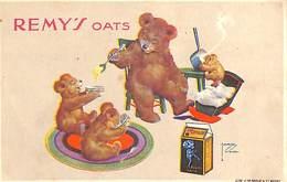Remy's Oats Publicité Ours Teddy Bear, Lith. J. De Grève (Lawson Wood) - Orsi