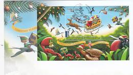Christmas Island 2016 Christmas Souvenir Sheet FDC - Christmas Island