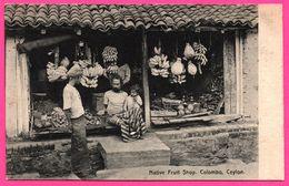 Colombo - Native Fruit Shop - Magasin De Fruits Indigène - Banane - Animée - PLATE Ltd N° 80 - Sri Lanka (Ceylon)