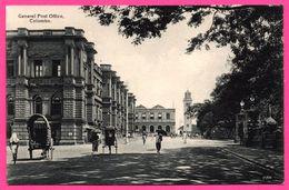 Colombo - General Post Office - Pousse Pousse - Animée - PLATE Ltd N° 81 - Sri Lanka (Ceylon)