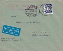 Flugpost Danzig 248 Staatswappen 40 Pf Auf Lp.-Brief DANZIG LUFTPOST 29.9.39 - Stamps