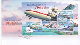 Cocos (Keeling) Islands 2017 Aviation Souvenir Sheet FDC - Cocos (Keeling) Islands