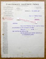 Constructeurs-Mécaniciens, Ets Haustrate Frères, Herseaux 1927 - Belgium