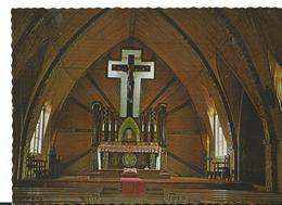New Guinea Int De L'église De Fané Construite Et Decoré  Style Indigene - Guinée Equatoriale
