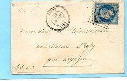 G.C. 4209 VIGNY (72) Sur N°29+cachet 22-L.S.C. Du 23/8/XX - Marcophilie (Lettres)
