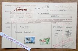 """Chaussures & Pantoufles """"Narcia"""" Avenue De L'Hôpital Français, Berchem Ste Agathe-Bruxelles 1945 - Belgium"""