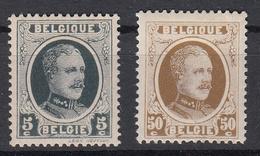BELGIË - OBP - 1922 - Nr 193 + 203 (Magere Druk) - MNH** + MH* - 1922-1927 Houyoux