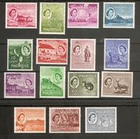 MAURITIUS 1953 - 1958 SET SG 293/306 MOUNTED MINT Cat £60 - Mauritius (...-1967)