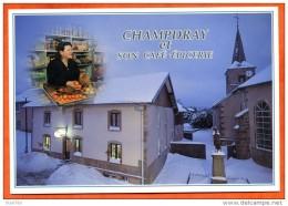 88 CHAMPDRAY Café Epicerie Chez Annette Et Jean Luc Village Hiver Vosges Carte Vierge TBE - France