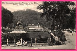 Kandy - The Esplanade - Showing Temple Of The Holy Tooth - Animée - PLATE Ltd N° 117 - Sri Lanka (Ceylon)