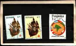 71796) LOTTO DI FRANCOBOLLI DELLA ìGUYANA - -USATI - Guyana (1966-...)