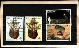 71797) LOTTO DI FRANCOBOLLI DELLA ìGUYANA - -USATI - Guyana (1966-...)