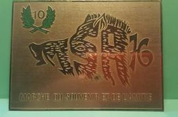 Militaire Belge - Marche Du Souvenir Et De L'amitié 1976 . 110 X 80 - Métal - Badges & Ribbons