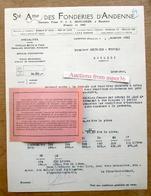 SA Des Fonderies D'Andenne, Ancienne Firme F & A Moncheur à Rieudotte, Andenne 1931 - Belgium