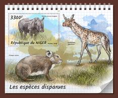 NIGER 2018 - Extinct Rhinoceros S/S. Official Issue - Rhinozerosse