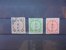 CHINE 1910 SERIE OBLITEREE+NEUVE*-CHARNIERES SURCHARGES (406) - Usati