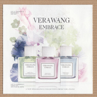 CC Carte Parfumée 5x5 ' VERA WANG' EMBRACE Perfume Card - Modern (from 1961)
