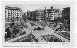 (RECTO / VERSO) BILBAO EN 1952 - N° 72 - PLAZA DE FREDERICO MOYUA - BEAU CACHET ET TIMBRES - FORMAT CPA VOYAGEE - Espagne