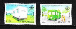 Seychelles  - 1982.  Autoambulanza E Autolibreria. Ambulance And Car Library. MNH - Verkehr & Transport