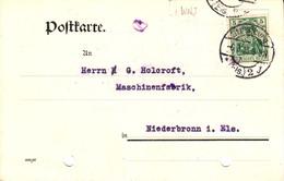Perforé Perfin   W.N.J. Wolf Netter Jacobi Strasbourg   6 3 1913  (perfin) - France