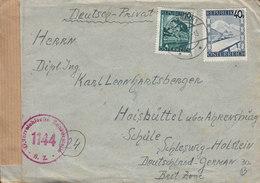 Austria PAYERBACH 1948 Cover Brief SCHLESWIG-HOLSTEIN Germany Österreichische Zensurstelle '1144' (2 Scans) - 1945-60 Briefe U. Dokumente