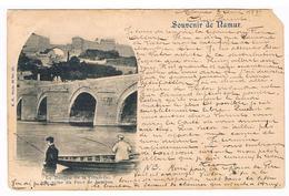 CPA Pionnière Dos Non Divisé : NAMUR - Donjon De La Citadelle Pris Du Pont De Jambes - Pêcheurs En Barque - 1899 - Namen