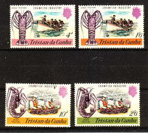 Tristan Da Cunha  - 1970. Pesca Delle Aragoste. Crawfish And Industry. Complete  MNH Set - Alimentazione