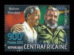 Central Africa Fidel Castro Nelson Mandela Nobel Peace Prize 1v Stamp Mi:4486 - Non Classificati