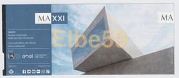 Roma, 2018, MAXXI, Museo Nazionale Delle Arti Del XXI Secolo, Biglietto D'ingresso, 17-8-2018 - Biglietti D'ingresso